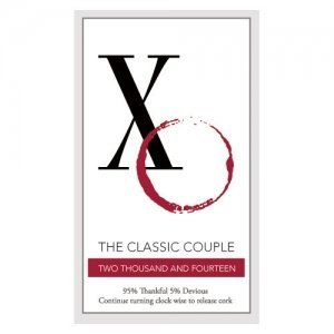 Classic Couple XO Wine Bottle Sticker (2 colors) image