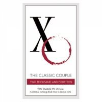 Classic Couple XO Wine Bottle Sticker (2 colors)