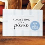 Personalized Picnic Tent Card (Set of 6 - 6 Color Options)