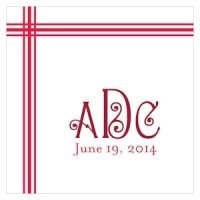 Blissful Picnic Monogram Tag (Set of 20 - 8 Colors)