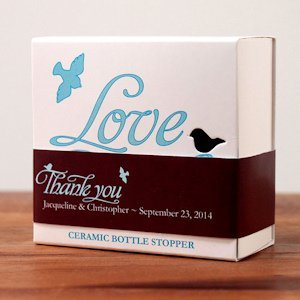 Love Bird Bottle Stopper Paper Ribbon (13 Colors) image