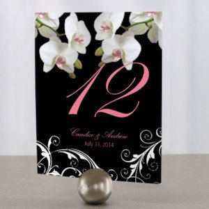 Classic Orchid Table Number Cards (4 Colors) image