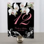 Classic Orchid Table Number Cards (4 Colors)