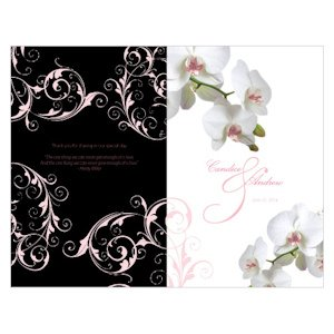 Classic Orchid Wedding Programs (4 Colors) image