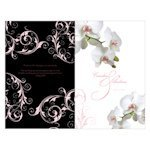 Classic Orchid Wedding Programs (4 Colors)