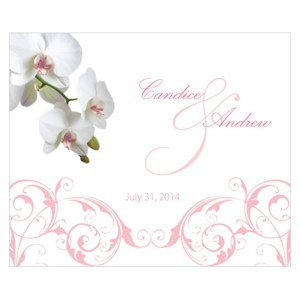 Classic Orchid Rectangular Favor Stickers (4 Colors) image