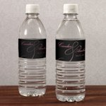 Classic Orchid Wedding Water Bottle Labels (10)