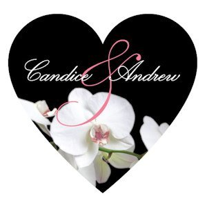 Classic Orchid Heart Sticker (4 Colors) image