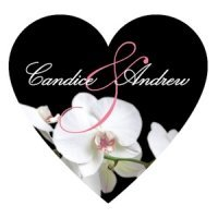 Classic Orchid Heart Sticker (4 Colors)
