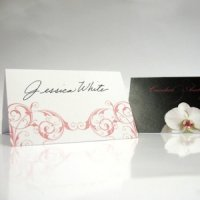 Classic Orchid Wedding Place Cards (Set of 6)