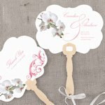 Classic Orchid Personalized Hand Fan (4 Colors)