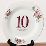 Classic Die Cut Table Number Clings (13 Colors)