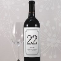 Personalized Wine Bottle Table Number Labels (Many Colors)