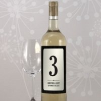 Black Pinstripe Wine Bottle Table Numbers