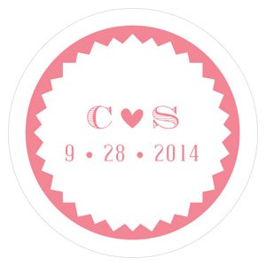 Homespun Charm Small Sticker (4 Colors) image