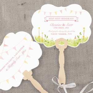 Homespun Charm Personalized Hand Fan (4 Colors) image