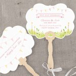 Homespun Charm Personalized Hand Fan (4 Colors)