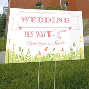 Homespun Charm Wedding Directional Sign (4 Colors) image