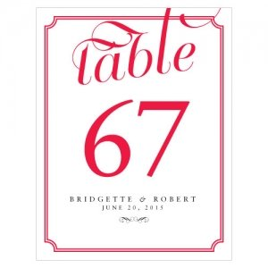 Expressions Personalized Table Numbers (16 Colors) image