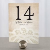 Vintage Lace Table Number (7 Colors)