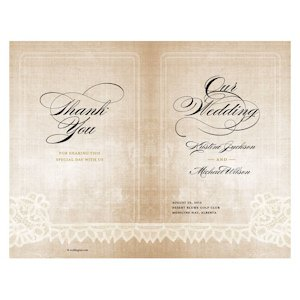 Vintage Lace Personalized Program (7 Colors) image