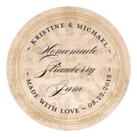 Personalized Vintage Lace Large Sticker (7 Colors)