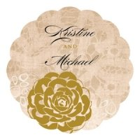 Vintage Lace Personalized Die Cut Sticker (7 Colors)