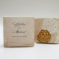 Vintage Lace Personalized Favor Box Wrap (7 Colors)