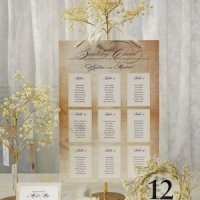 Vintage Lace Seating Chart (7 Colors)