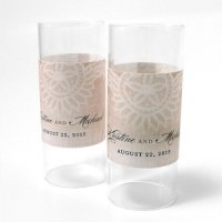 Vintage Lace Personalized Mini Luminary Wrap (12)
