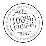 100 Percent Fresh Small Sticker (6 Colors)