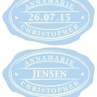 Oval Envelope Seal Stickers (3 Colors - 5 Designs)