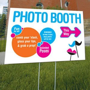 Retro Pop Directional Photo Booth Sign image