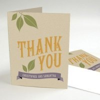 Vineyard Design Thank You Card (2 Colors)