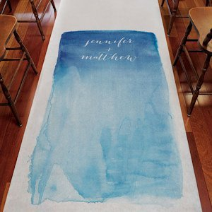 Aqueous Personalized Aisle Runner (5 Colors) image
