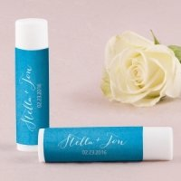 'Aqueous' Personalized Lip Balms - Set of 12 (5 Colors)