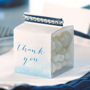 Personalized Aqueous Favor Box Wrap (Set of 10) - 5 Colors image