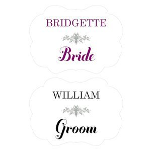 Personalized Bride and Groom Signs for Chairs image