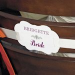 Personalized Bride and Groom Signs for Chairs