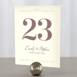 Equestrian Love Wedding Table Numbers (4 Colors) image
