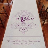 Fanciful Monogram Personalized Aisle Runner (7 Colors)