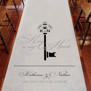 Key Monogram Personalized Aisle Runner (6 Colors) image