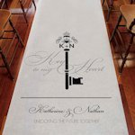 Key Monogram Personalized Aisle Runner (6 Colors)