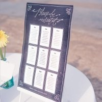 Chalkboard Print Design Personalized Seating Chart