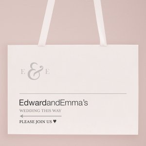 Simple Ampersand Monogram Directional Poster image