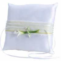 Calla Lily Square Ring Bearer Pillow