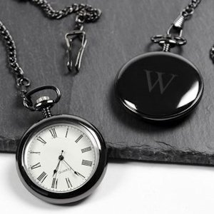 Personalized Gunmetal Finish Pocket Watch image