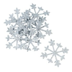 Sparkling Silver Snowflakes image