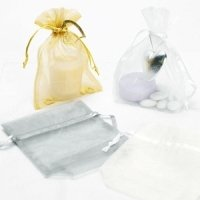 Large Rectangular Organza Bags (10 Packs)