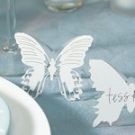 Laser Expressions Butterfly Folded Place Card - Set of 12